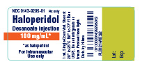 Haloperidol Decanoate Injection 100 mg/mL container label