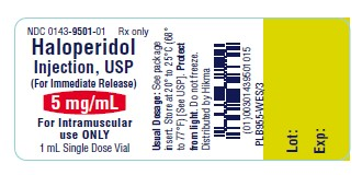 Haloperidol Injection, USP 5 mg/mL vial label