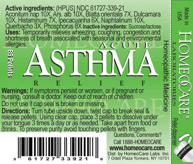 acute asthma relief label
