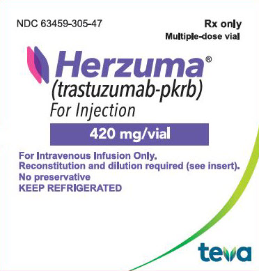 Rx Item-HERZUMA- trastuzumab injection powder lyophilized for solution INJ 150MG