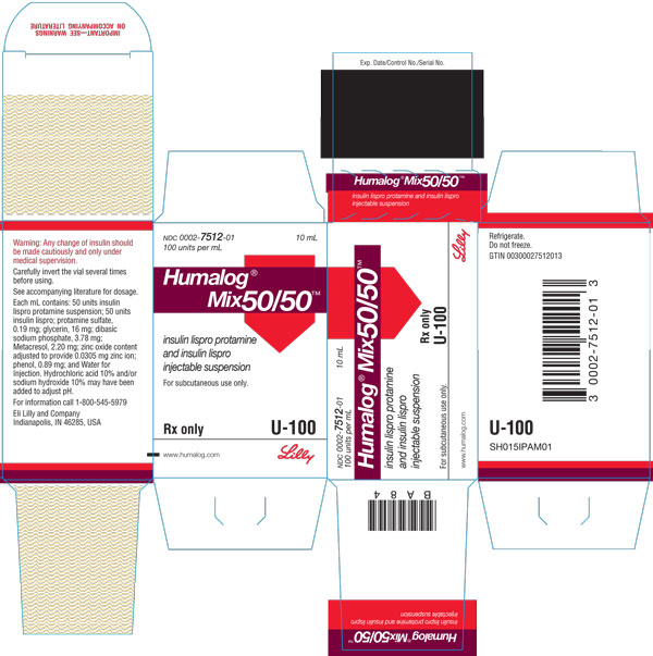 PACKAGE CARTON – HUMALOG Mix50/50 10 mL vial 1ct