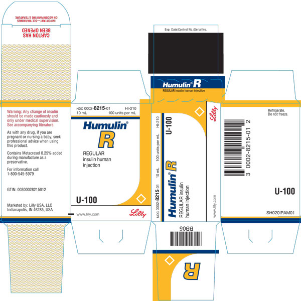 PACKAGE CARTON – HUMULIN R U-100 Vial 10 mL 1ct