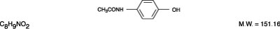 This is an image of the structural formula of Acetaminophen.