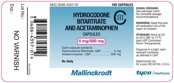 Hydrocodone Bitartrate And Acetaminophen | Mallinckrodt, Inc. Breastfeeding