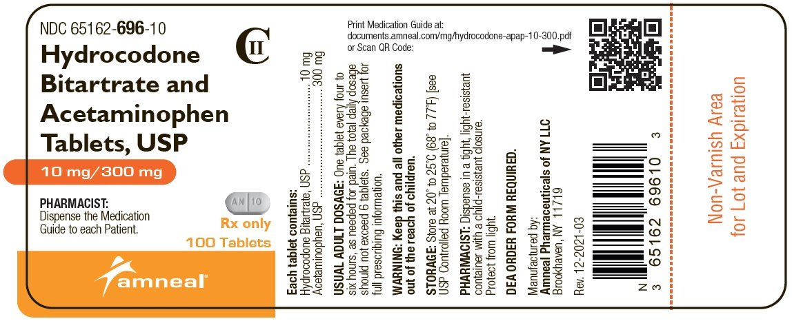 10mg/300mg 100ct Label