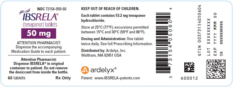 Rx Item-IBSRELA - tenapanor hydrochloride tablet 50MG 60  TAB BY Ardelyx, Inc.