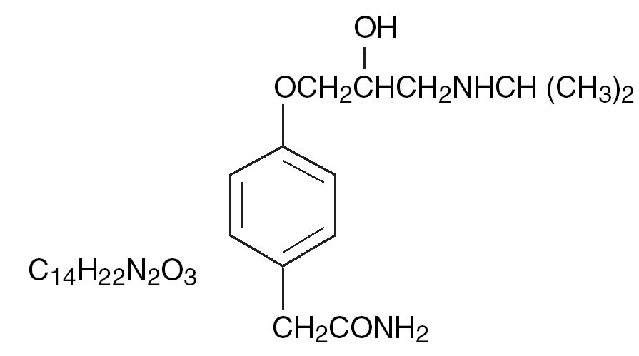 Chemical Structure for Tenormin
