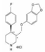 chemical structure for paroxetine hydrochloride