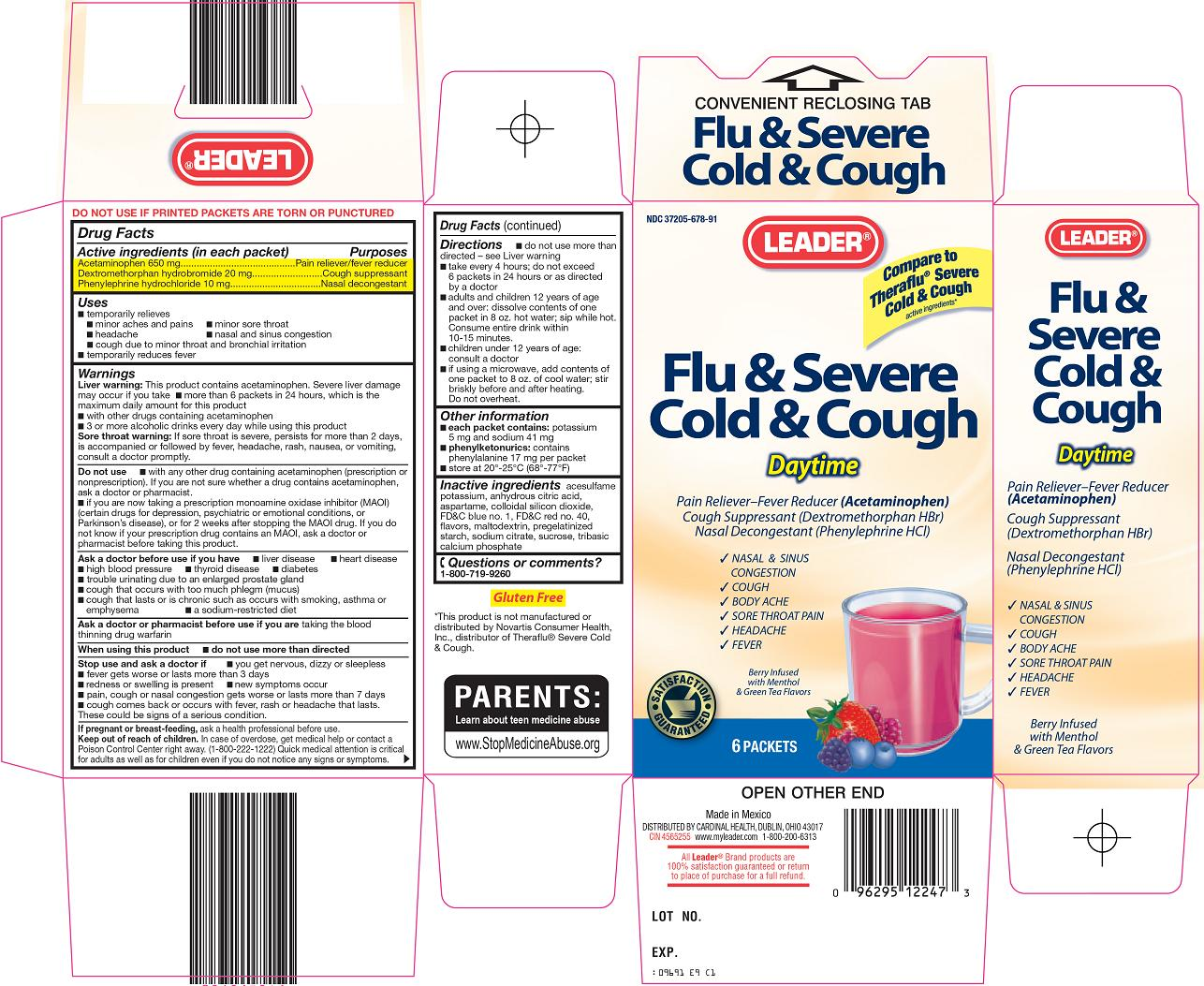 Flu & Severe Cold & Cough Carton