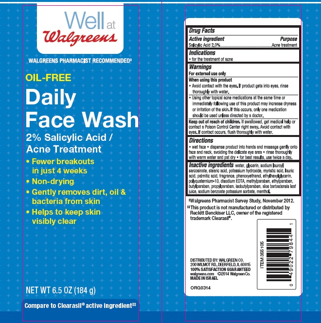 Well At Walgreens Oil Free Daily Face Wash