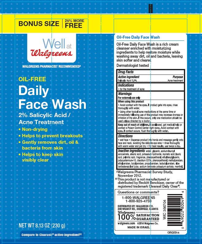 Well At Walgreens Oil Free Daily Face Wash Bonus