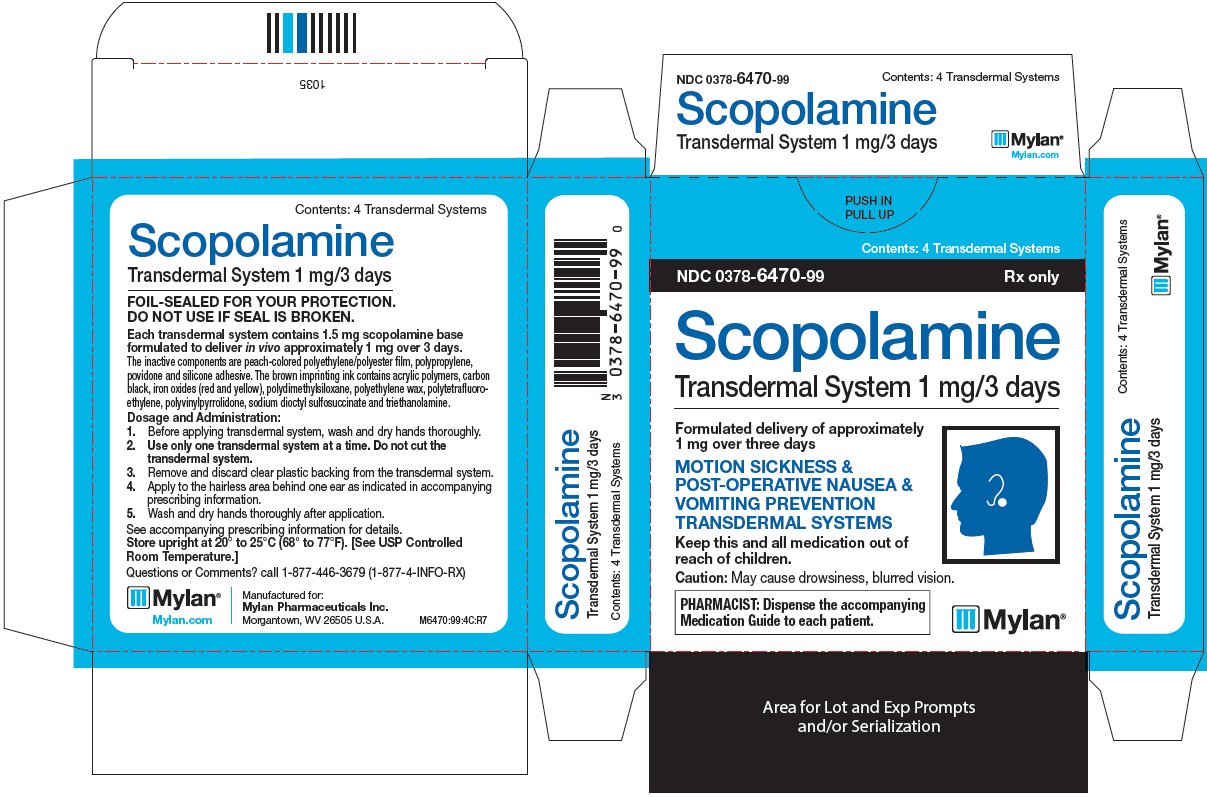 Scopolamine Transdermal System 1 mg/3 days