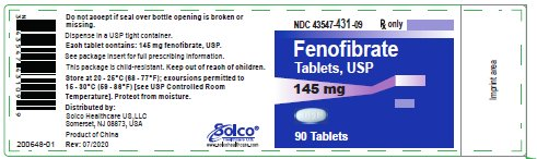 container label 145 mg 90 ct