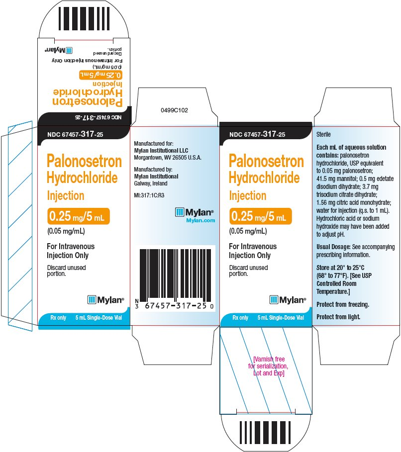 Palonosetron Hydrochloride Injection 0.25 mg/5 mL Carton Label