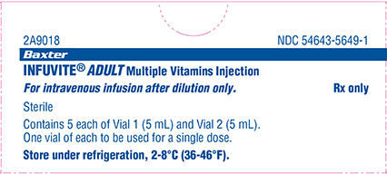 Infuvite Adult Single Dose Vials Carton