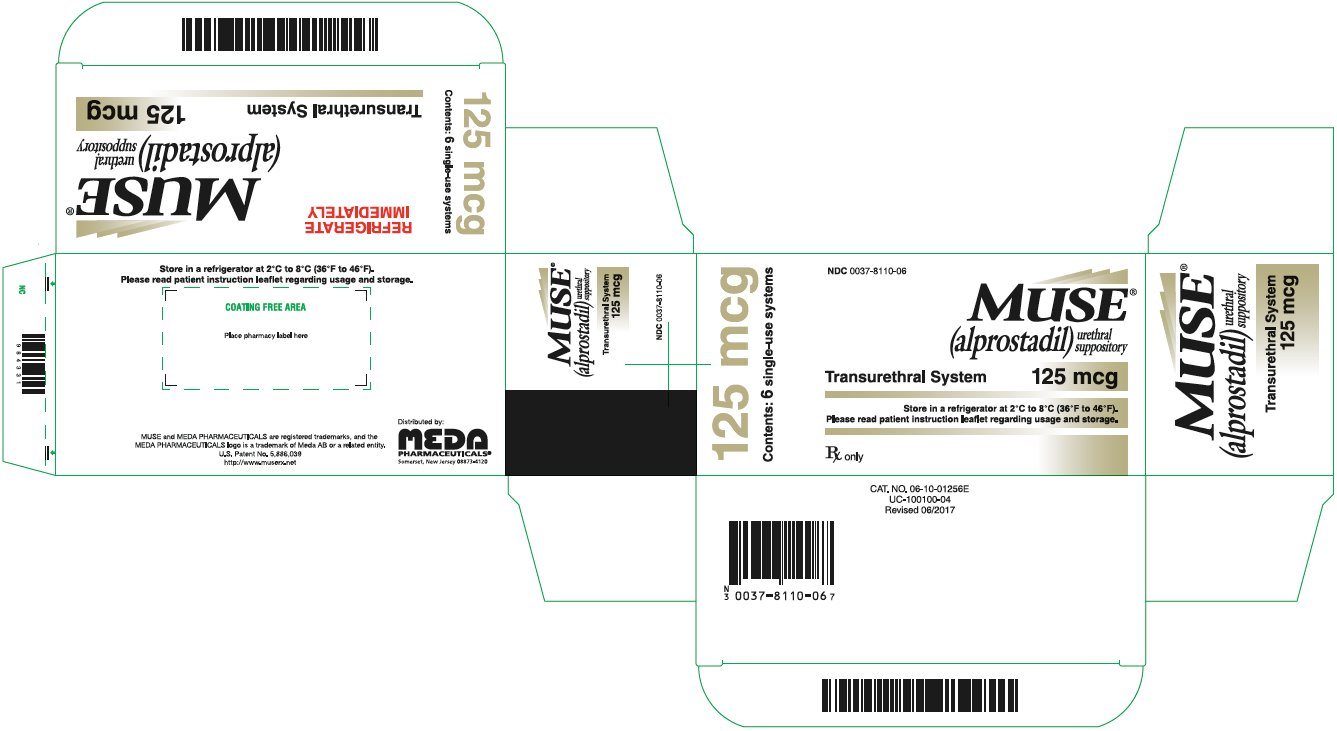 Muse Urethral Suppository 125 mcg Carton Label