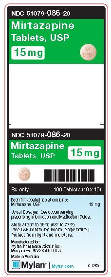 Mirtazapin 15 mg Tablets Unit Carton Label