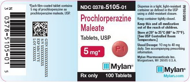 Prochlorperazine Maleate Tablets, USP 5 mg Bottle Label