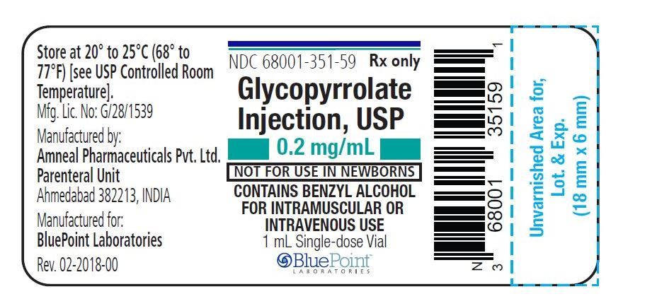 Glycopyrrolate Injection 0.2mg_mL - 1 mL fill Vial Label - BluePointRev 02-2018-00