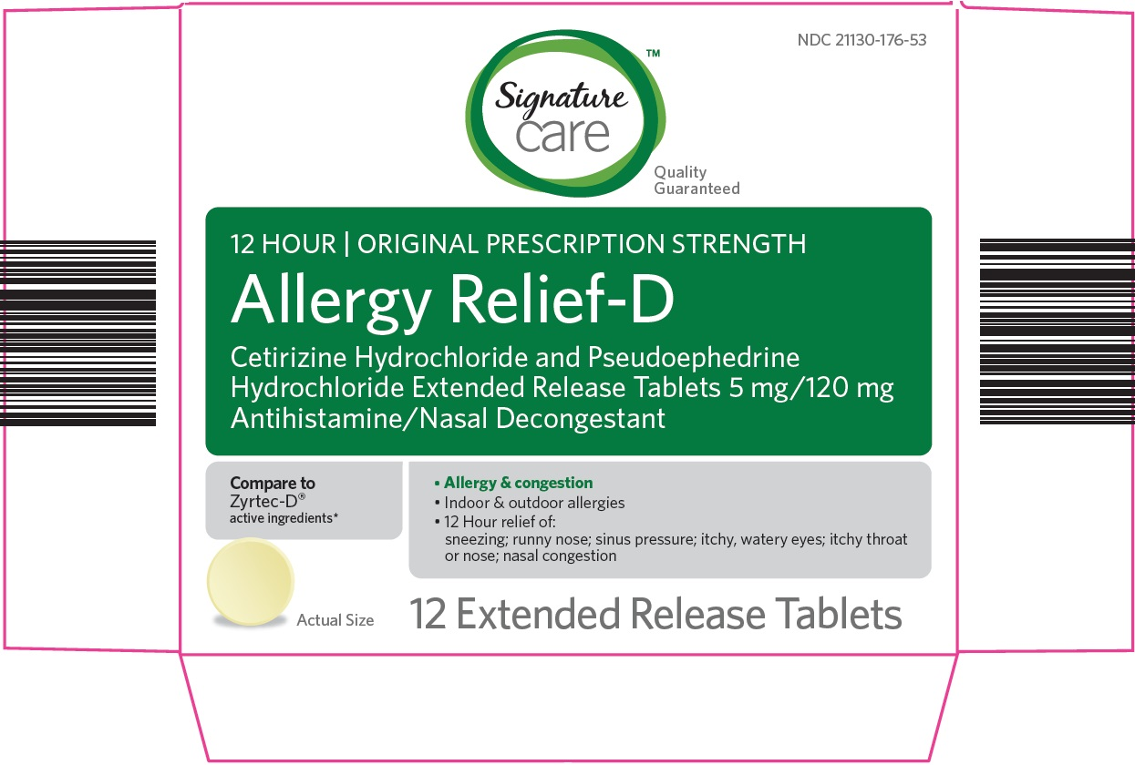 Signature Care Allergy Relief D   Cetirizine Hcl, Pseudoephedrine Hcl Tablet, Extended Release Breastfeeding
