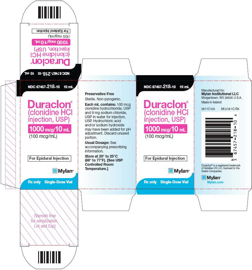 Duraclon (clonidine HCl) Injection - Carton Label