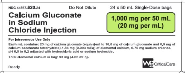 Calcium Gluconate in Sodium Chloride Injection 1,000 mg per 50 mL image