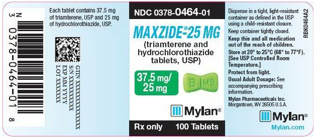 Maxzide-25 37.5 mg/25 mg Tablet Bottle Label