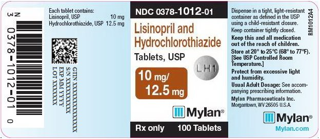 Lisinopril and Hydrochlorothiazide Tablets, USP 10 mg/12.5 mg