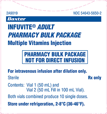 Infuvite Adult Pharmacy Bulk Package Carton