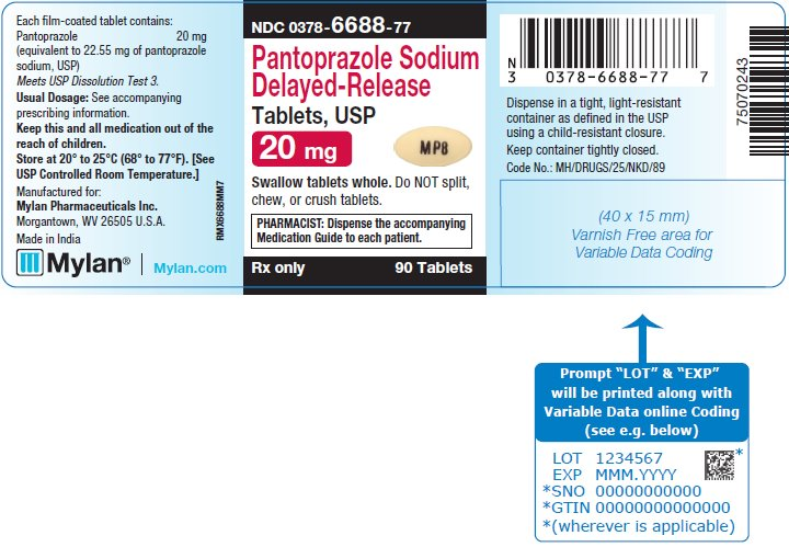 Pantoprazole Sodium Delayed-Release Tablets, USP 40 mg Bottle Label