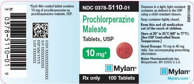 Prochlorperazine Maleate Tablets, USP 10 mg Bottle Label