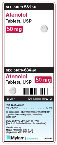 Atenolol 50 mg Tablets Unit Carton Label