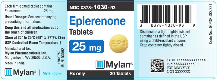 Eplerenone Tablets 25 mg Bottle Label