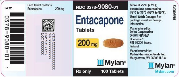 Entacapone Tablets 200 mg Bottle Label