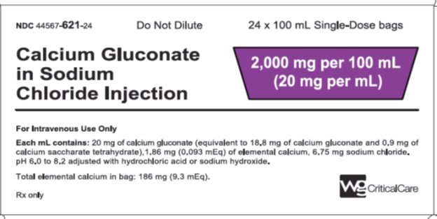 Calcium Glulconate in Sodium Chloride Injection 2,000 mg per 100 mL label image