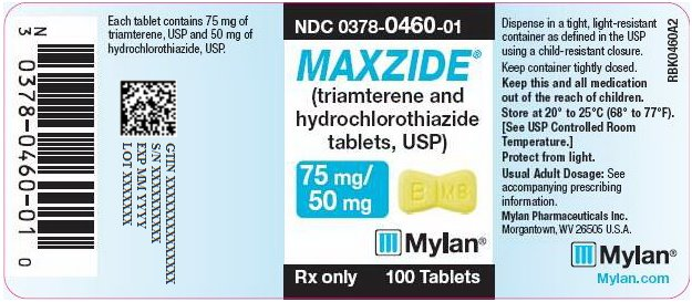 Maxzide 75 mg/50 mg Tablet Bottle Label