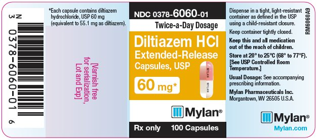 Diltiazem Hydrochloride Extended-Release Capsules 90 mg Bottle Label