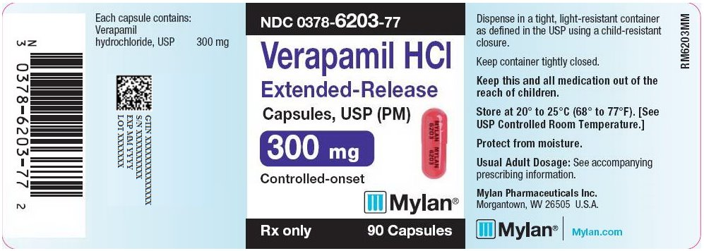 Verapamil HCl Extended-Release Capsules, USP (PM) 300 mg Bottle Label