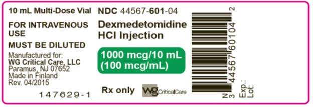 Dexmedetomidine HCl Injection 1000 mcg/10 mL label image