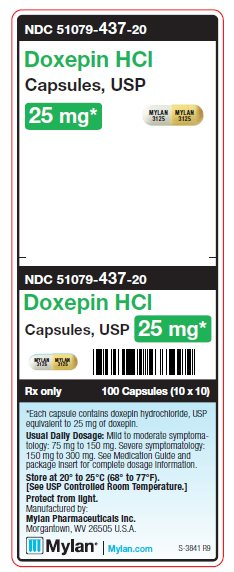Doxepin HCl 25 mg Capsules Unit Carton Label