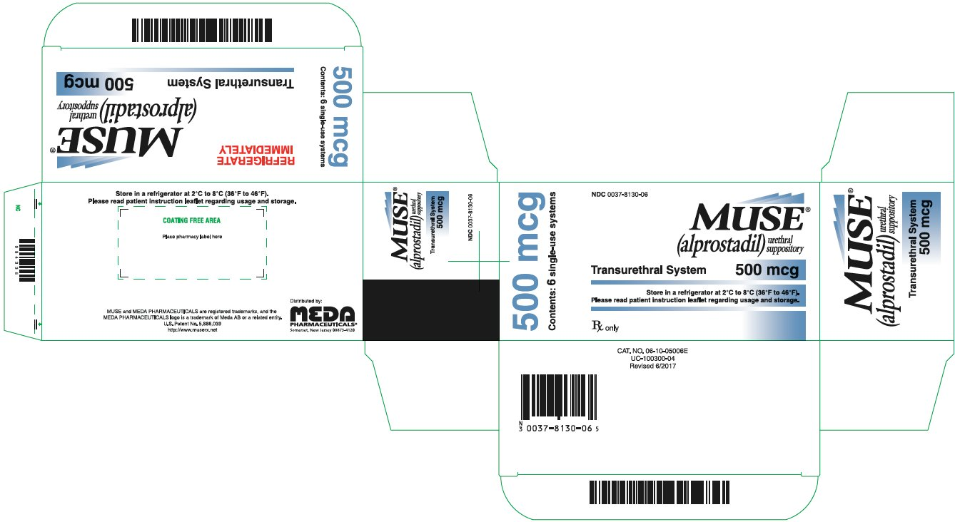 Muse Urethral Suppository 500 mcg Carton Label