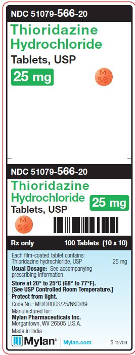 Thioridazine Hydrochloride 25 mg Tablets Unit Carton Label