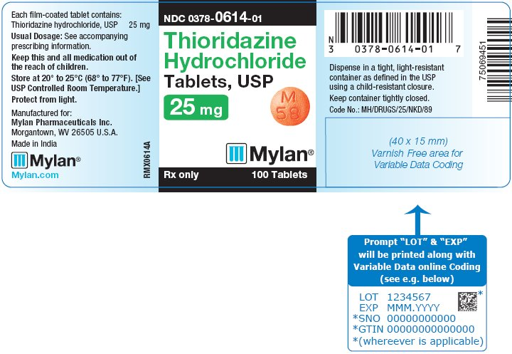 Thioridazine Hydrochloride Tablets 50 mg Bottle Label