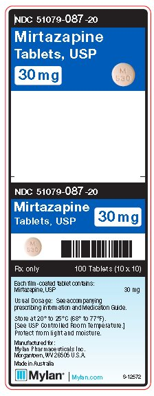Mirtazapine 30 mg Tablets Unit Carton Label