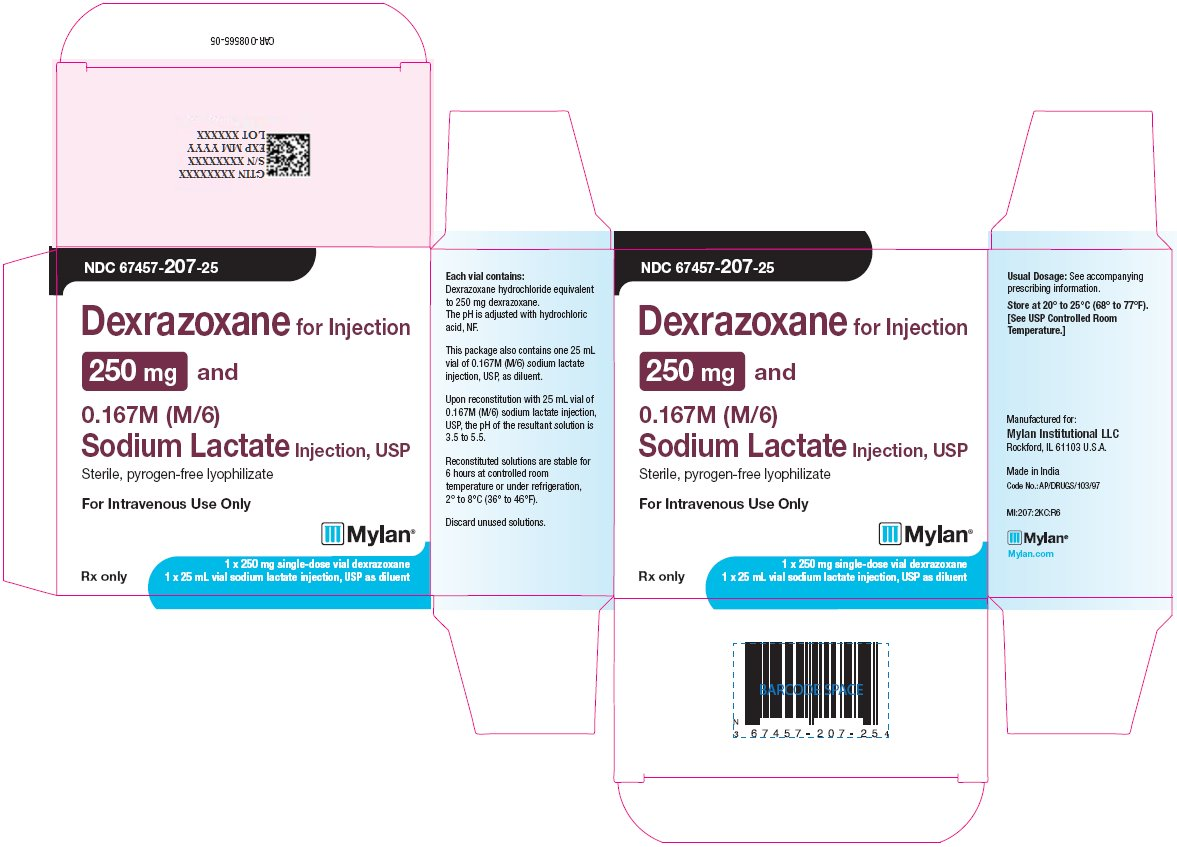 Dexrazoxane Injection 250 mg Carton Label