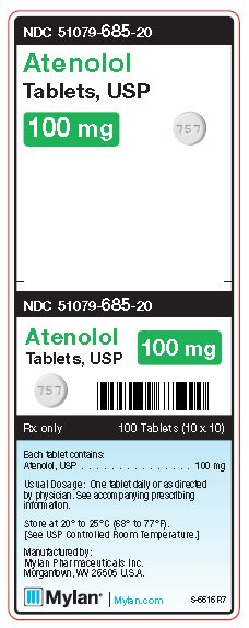 Atenolol 100 mg Tablets Unit Carton Label
