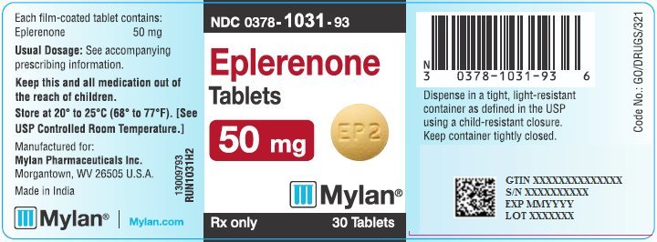 Eplerenone Tablets 50 mg Bottle Label