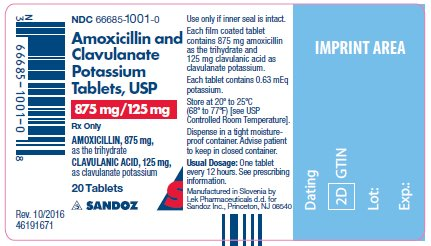 875mg tablet label