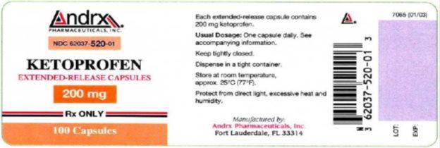 Ketoprofen Capsule, Extended Release Breastfeeding