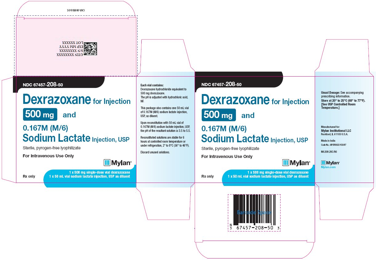 Dexrazoxane Injection 500 mg Carton Label